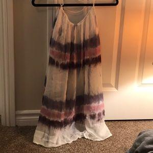 Tye dye loose sheer w/ under dress thing